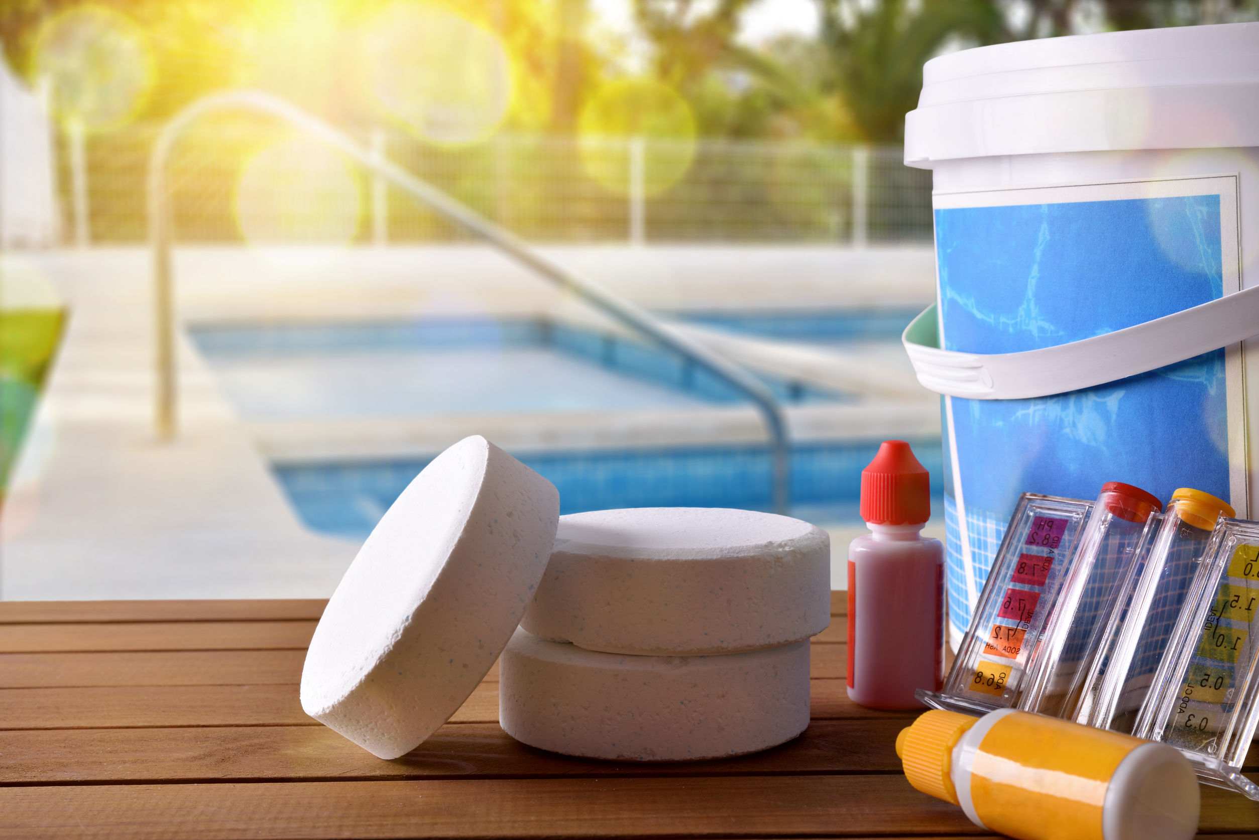 Pool and water chemical products in Los Cabos